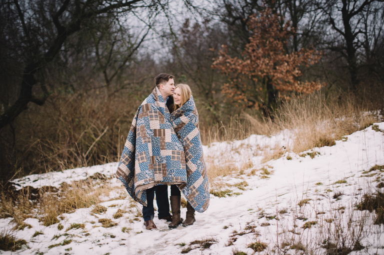 winter prewedding session