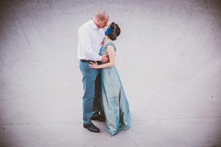blue alternative wedding